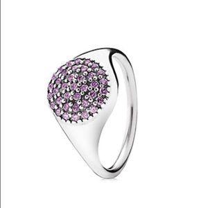 Purple pavé pandora ring!